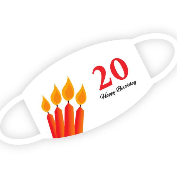 Stoffmaske - Happy Birthday 20