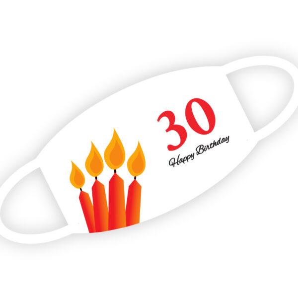 Stoffmaske - Happy Birthday 30