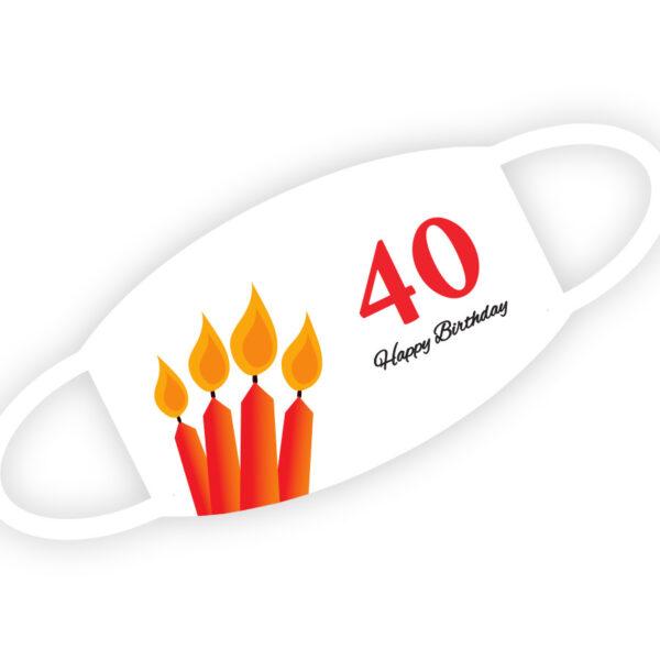 Stoffmaske - Happy Birthday 40