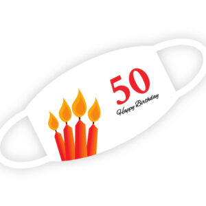 Stoffmaske - Happy Birthday 50