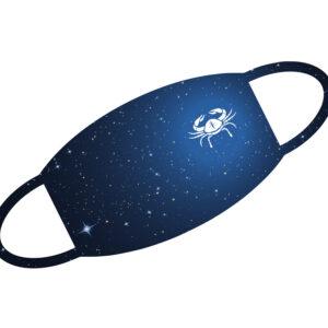 Stoffmaske - Sternzeichen Krebs