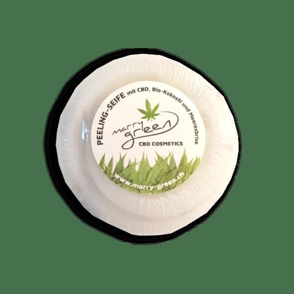 Peelingseife - Marry Green - Meeresbrise & CBD - 100g