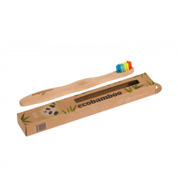 Kinderzahnbürste - ecobamboo - Zahnbürste aus Bambus - super soft
