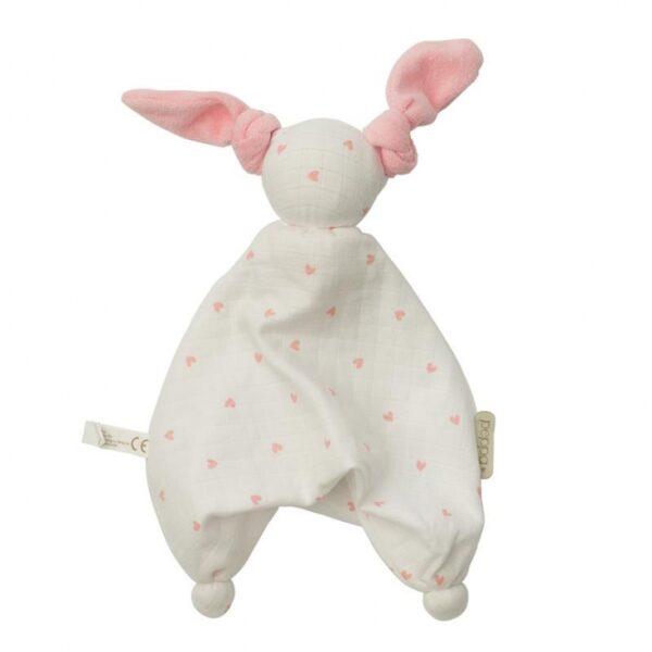 Kuscheltier - Hoppa - Floppy Muslin - white/pink