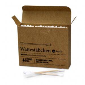 Wattestäbchen - Hydrophil - Bambus / Baumwolle - 100 Stk.