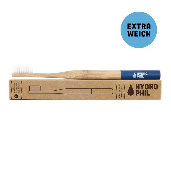 Zahnbürste - Hydrophil - Zahnbürste aus Bambus - extra weich - dunkelblau