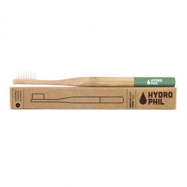 Zahnbürste - Hydrophil - Zahnbürste aus Bambus - mittelweich - grün