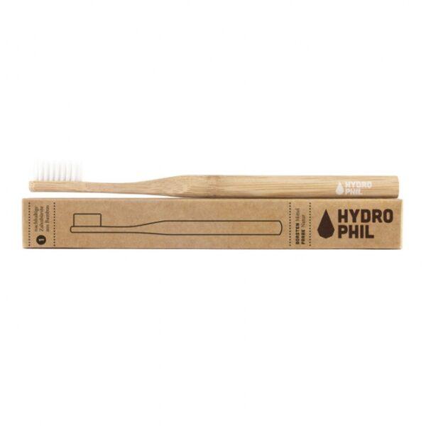 Zahnbürste - Hydrophil - Zahnbürste aus Bambus - mittelweich - natur